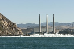 STRIKE THREE:  It's been an open secret for years, but the controversial Morro Bay power plant will finally shutter in February, according to its operator, Houston-based energy company Dynegy. But the fate of the iconic smoke stacks is still up in the air. - FILE PHOTO BY STEVE E. MILLER