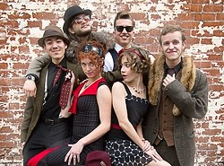 SWINGERS! :  The Red Skunk Jipzee Swing Band will blow the roof off the Red Barn on June 3. - PHOTO COURTESY OF RED SKUNK JIPZEE SWING BAND