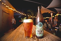 """KING OF BEER:  BTD's King Mate IPA is a gateway beer that lures non-IPA drinkers over to the hoppy side while still pleasing the hop-till-you-drop crowd. """"It's an IPA, but it's a mild one,"""" Gary said of BTD's most popular beer. """"It's an English style so it's got an earthiness to it."""" - PHOTO BY KAORI FUNAHASHI"""