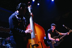 SWAGGER! :  This rockabilly trio played their hearts out and made the crowd swoon.