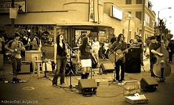 STREET BUSKERS :  On Nov. 19, HumanLab plays at Nipomo and Higuera streets during the Downtown Associations' mainstage event for Farmers Market. - PHOTO COURTESY OF HUMANLAB