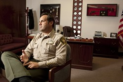'I WANT THE RESPONSIBILITY' :  San Luis Obispo County Sheriff Ian Parkinson speaks of reestablishing regional anti-gang and narcotics units—which he hopes will eventually include participation from each local law enforcement agency—to fill the void left by a state in financial crisis. - PHOTO BY STEVE E. MILLER