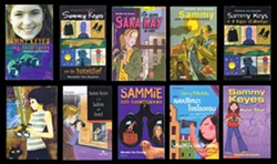 SAMMY KEYES INTERNATIONAL:  Pictured are covers from Sammy Keyes and Hotel Thief from (left to right, starting from top left) Denmark, Holland, France, Germany, Japan, Mexico, Sweden, Thailand, and the United Kingdom.