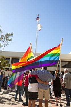 THE WAIT IS OVER:  After a 4 1/2-year gap, San Luis Obispo County began marrying same-sex couples on July 1. - PHOTO BY STEVE E. MILLER