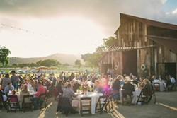 RAISING THE BARN:  The barn and ranch houses of Greengate Ranch and Vineyards play up the subtle rustic elegance of the Central Coast. - PHOTO BY CAMERON INGALLS