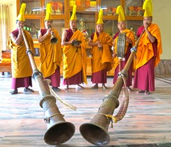 ANCIENT ART:  Founded in the 15th century, the Drepung Gomang Monastery is one of the central institutions for Buddhist learning. - PHOTO COURTESY OF ANET CARLIN