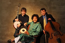 MASHUP! :  Three amazing genre-bending virtuosos—Béla Fleck, Zakir Hussain, and Edgar Meyer—are joining forces on Oct. 26 in the Performing Arts Center's Cohan Center to conjure a brand new sound mixing classical, bluegrass, and world music. - PHOTO COURTESY OF CAL POLY ARTS