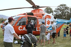 AIR AMBULANCE:  CALSTAR stands for California Shock Trauma Air Rescue, a flying ambulance service. - PHOTO BY GLEN STARKEY