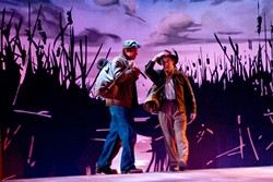 NO SUNSETS HERE :  George and Lennie are an unlikely duo in Steinbeck's Of Mice and Men. - PHOTO COURTESY OF VIRGINIA BARTER THEATRE