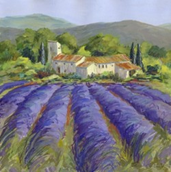 LAVENDER FIELD : - IMAGE BY TRICIA REICHERT