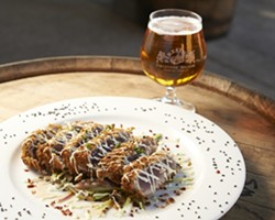 BEER GRADE :  Enjoy a plate of sushi-grade ahi, encrusted with panko, black pepper, and sesame seeds. - PHOTO BY STEVE E. MILLER