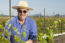 NEW GROWTH :  Winemaker Terry Speizer is getting back to his roots with the planting of a new vineyard in the Edna Valley. - PHOTO BY STEVE E. MILLER