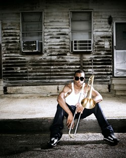 AUTHENTIC NEW ORLEANS JAZZ! :  Trombone Shorty & Orleans Avenue hits Downtown Brew on May 15, bringing a tatse of Tremé to the Central Coast. - PHOTO COURTESY OF TROMBONE SHORTY