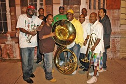 HEAVY FUNK! :  Hailing from New Orleans, the Rebirth Brass Band (pictured) is but one of two dozen acts—including Indigo Girls, Carolyn Wonderland, David Lindley, James McMurtry, and John Doe—playing this year's Live Oak Music Festival June 15-17. - PHOTO COURTESY OF REBIRTH BRASS BAND