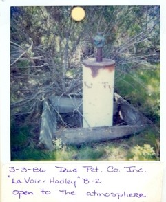WELL TO DO :  This snapshot shows one of several dozen derelict wells in the Huasna area. - PHOTO COURTESY OF CALIFORNIA DEPARTMENT OF CONSERVATION