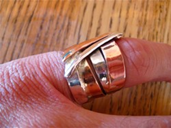 SIBLINGSTUDIO :  Copper and silver ring, $57 - PHOTO COURTESY OF SIBLINGSTUDIO
