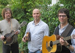 HOLY TRINITY :  Incredible local bluegrass, roots, and old time music trio Little Black Train plays April 23 at The Clubhouse. - PHOTO COURTESY OF LITTLE BLACK TRAIN