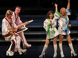 TAKE A CHANCE ON THEM:  ABBA tribute act ABBA FAB plays the Morro Bay Harbor Festival on Oct. 3. - PHOTO COURTESY OF ABBA FAB