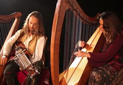 HARP STEREO:  The Painted Sky Concert series present an evening of stunning Celtic music with Lisa Lynne and Aryeh Frankfurter on Jan. 17. - PHOTO BY LINDSEY RALLO