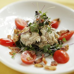 CRAB BLT SALAD :  Trevor Lynch, SeaVenture Resort - PHOTO BY STEVE E. MILLER