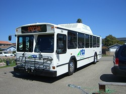 UPHILL BATTLE :  San Luis Obispo Regional Transportation Authority bought two hybrid-electric buses but they constantly break down and have difficulty going uphill. - PHOTO OF COURTESY SLORTA