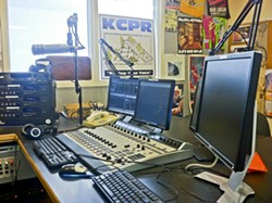 RADIO RESHUFFLE?:  After a controversial fundraising incident involving two KCPR DJs, university administrators and students are now involved in a behind-the-scenes tug-of-war over how best to regulate the 46-year-old station. - PHOTO COURTESY OF PARKER GLENN