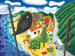 ABOVE SHELL BEACH:  Many of Cathy's paintings depict local landscapes; all are colorful, cheerful celebrations of life. - PHOTO COURTESY OF CATHERINE LEE NEIFING