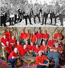 SWINGIN' IT :  Cal Poly graduates from decades past perform as the Cal Poly Collegians Alumni Big Band at the Madonna Inn Ballroom on Aug. 27. - PHOTO COURTESY OF CAL POLY COLLEGIANS ALUMNI BIG BAND