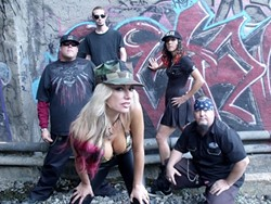 THEY AIM TO MAIM! :  Goth metal act RAGG is the main attraction at the Midstate Scare on All Hallow's Eve, Oct. 31! - PHOTO COURTESY OF RAGG