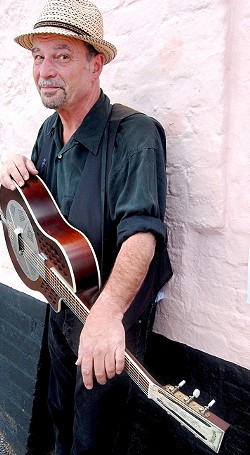 BARN STORM!:  Steve James—well known among contemporary acoustic folk and blues fans—plays the next Red Barn Community Music Series concert on Feb. 1. - PHOTO COURTESY OF STEVE JAMES