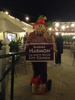 HARMON-Y:  In the Arroyo Grande City Council race, challenger Barbara Harmon was the top vote-getter, nabbing 37.44 percent of the vote as of Nov. 5 and securing a council seat. - PHOTO BY RHYS HEYDEN