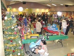GIMME SHELTER :  The Needs 'n Wishes fundraiser for the Maxine Lewis Memorial Shelter is set for Dec. 12 in Los Osos. The need this year is even greater than it was for last year's fundraiser, pictured here. - PHOTO COURTESY OF JERRI WALSH