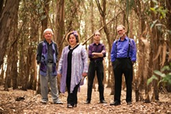 BRILLIANT! :  Gypsy, tango, classical, and folk act Café Musique plays at Red Barn Community Music Series on July 5. - PHOTO COURTESY OF BRITTANY APP