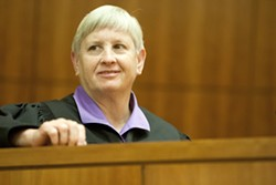 """ALTERNATIVE JUSTICE :  SLO Superior Court Judge Ginger Garrett has championed """"treatment courts"""" in the county. These courts seek to counsel, guide, and treat probationers who suffer from mental illnesses and/or substance abuse issues. - PHOTO BY STEVE E. MILLER"""
