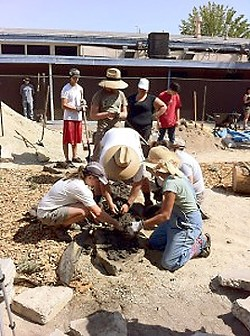 EARTHIFIED:  Students staff and parents at Flamson Middle School in Paso Robles work on a 4,000 square-foot garden full of native plants. The garden was just on of the many projects involving local nonprofit One Cool Earth and local schools. - PHOTO COURTESY OF ONE COOL EARTH