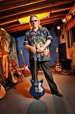 THE ORIGINAL CALIFORNIA KID :  Surf's up on July 24 when Merrell Fankhauser (now and in 1963) appears at the next free Arroyo Grande Rotary Bandstand concert. - PHOTOS COURTESY OF MERRELL FANKHAUSER