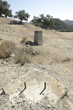 BLAST FROM THE PAST :  Before Excelaron can start new oil drilling in Huasna Valley, state officials are organizing a clean up of the last abandoned project in the 1980s. - FILE PHOTO BY STEVE E. MILLER