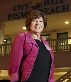 ROUND TWO :  Pismo Beach Councilwoman Mary Ann Reiss, who served briefly as the South Central Coast Region's coastal commissioner after being appointed by lame-duck Gov. Arnold Schwarzenegger, was politely told her services were no longer needed by new Gov. Jerry Brown. - PHOTO BY STEVE E . MILLER