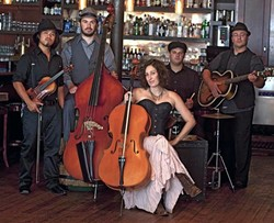 GET DIRTY!:  The amazing Dirty Cello plays April 3 at Coalesce Bookstore and April 4 at Castoro Cellars. - PHOTO BY ADRIAN MENDOZA