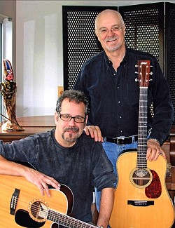 OPENING THE DOORS :  Cliff Eberhardt and James Lee Stanley will perform at the next Música Del Río House Concert on June 10, playing acoustic versions of The Doors songs. - PHOTO COURTESY OF CLIFF EBERHARDT & JAMES LEE STANLEY