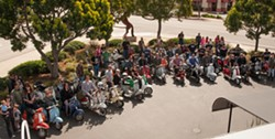 THE GANG'S ALL HERE:  Dozens of vintage scooter enthusiasts will ride around SLO County over the weekend during The Rides of March vintage scooter rally. - PHOTO COURTESY OF THE RIDES OF MARCH