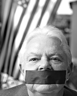 CENSURED, BUT NOT SILENT :  Pismo City Councilman Bill Rabenaldt was shunned by his fellow council members, who forbade him from speaking on behalf of the city, after he sent out some risqué emails to staff and council. - PHOTO BY STEVE E. MILLER