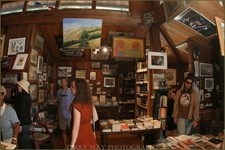 JUST ANOTHER DAY :  Visual art and literature reside harmoniously at Big Sur's Henry Miller Library. - PHOTO BY TERRY WAY