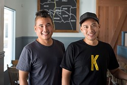 BROTHERS IN FLAVOR :  From left, Artisan owners Michael Kobayashi and Executive Chef Chris Kobayashi recently opened a new breakfast and lunch joint together in Templeton. With all of the flavor and none of the fancy, Kitchenette is serving up farm-fresh cuisine with a modern twist. - PHOTO COURTESY OF KITCHENETTE