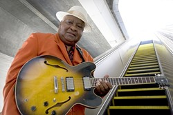 SOULMAN :  Arthur Adams brings his B.B. King-esque guitar and Aaron Neville-esque voice to the SLO Vets Hall on April 24. - PHOTO COURTESY OF DELTA GROOVE