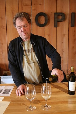 FOR LOVE OF WINE:  Michael Dewit of Copia Vineyards just celebrated the first harvest from his scenic Westside Paso Robles vineyard. Paso Underground is where small-lot wines come together to create a massively stimulating tasting experience. - PHOTO BY DYLAN HONEA-BAUMANN