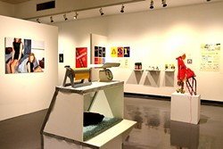 EXHIBIT A FOR ART:  The juried student exhibition features sculptures, paintings, and photographs, as well as graphic design projects made by students throughout the year. - PHOTO BY JESSICA PEÑA