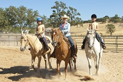ONE FINE EQUINE :  Katie Hill of Three Oaks Ranch provides a well-rounded introduction to horsemanship. - PHOTO BY STEVE E. MILLER