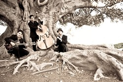 HOT, HOT, HOT! :  Shoestring Trio will bring its gypsy jazz, tango, samba, and chanson sounds to Steynberg on March 23. - PHOTO COURTESY OF SHOESTRING TRIO