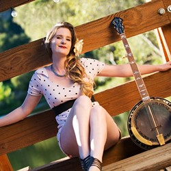 BANJO SWEETHEART:  Erin Inglish (pictured) will be joined by Ranchers for Peace and Duncan Phillips to celebrate the life and music of Duncan's father Utah Phillips on Feb. 12 at Linnaea's Café. - PHOTO BY BRITTANY APP